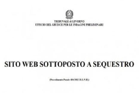sito web sequestro
