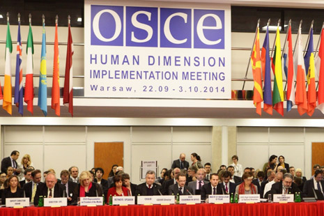 The meeting of Osce in Warsaw