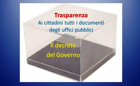 trasparenza decreto 17 feb 2013
