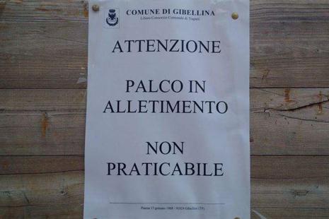 Il manifesto del comune di Gibellina