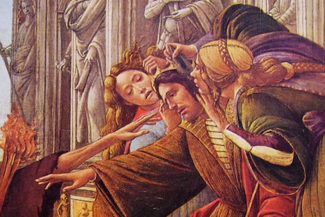 La calunniati Botticelli,  particolare