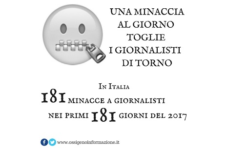 181 giornalisti minacciati 2017