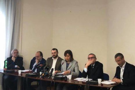 Foto conferenza Borrometi Fnsi