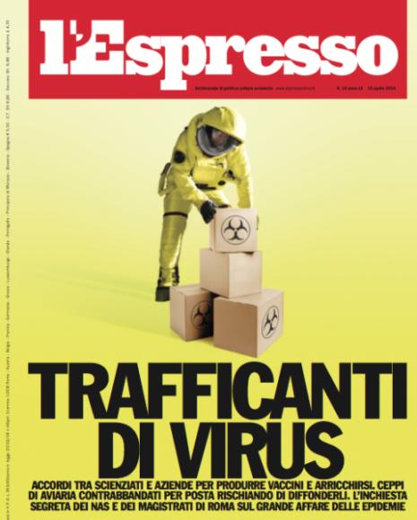 Copertina de LEspresso, aprile 2014